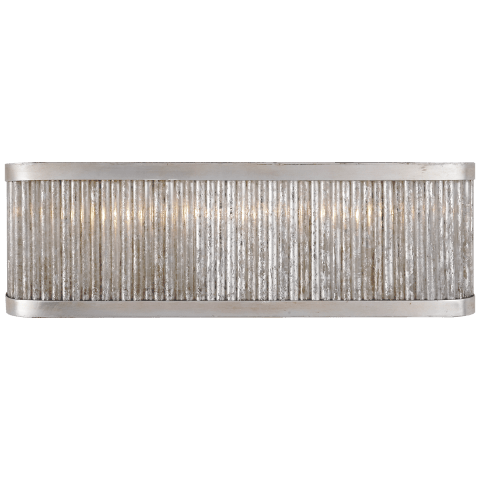 Sophie Large Linear Light in Burnished Silver Leaf