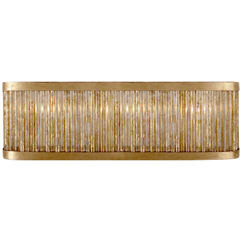 Sophie Large Linear Light in Gilded Iron