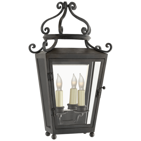 Lafayette Small 1/2 Sconce in French Rust with Clear Glass