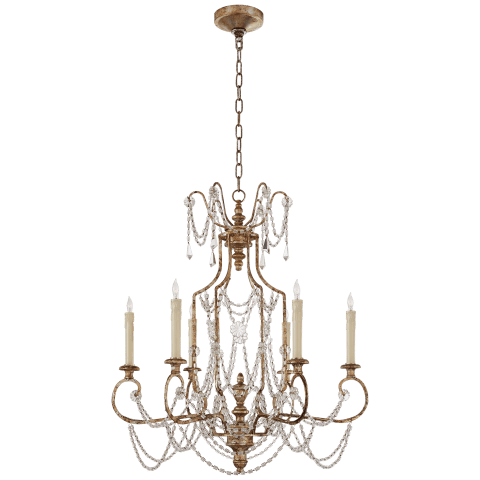 Lucia Medium Chandelier in Flemish Silver