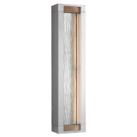 Mattix 4 - Light Outdoor LED Wall Lantern Painted Silver Bulbs Inc