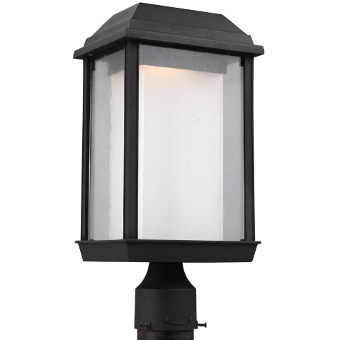 McHenry 1 - Light Outdoor LED Post Lantern Textured Black