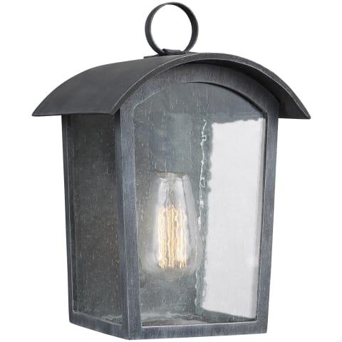 Hodges Small Outdoor Wall Lantern Ash Black
