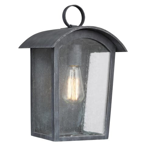 Hodges Medium Outdoor Wall Lantern Ash Black