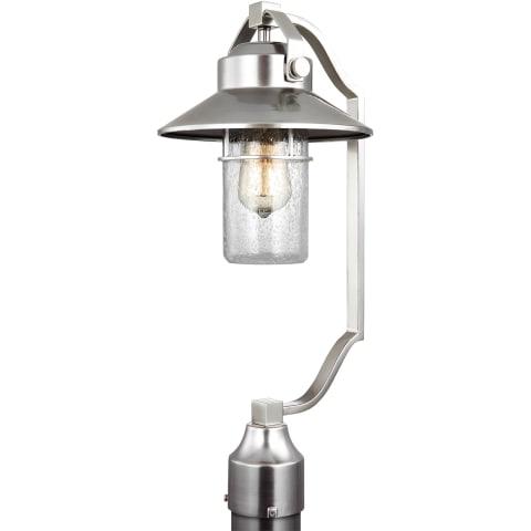 Boynton Medium Post Lantern Painted Brushed Steel