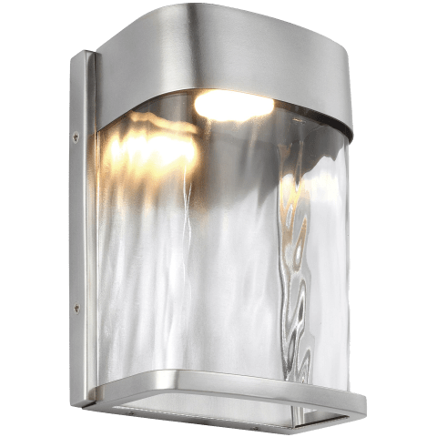 Bennie 1 - Light LED Outdoor Wall Lantern Painted Brushed Steel Bulbs Inc