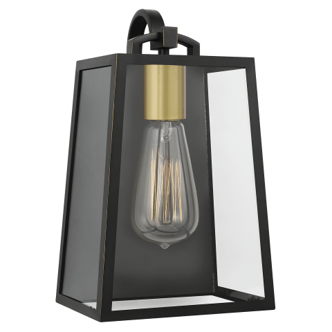 Lindbergh 1 - Light Wall Lantern Antique Bronze / Painted Burnished Brass