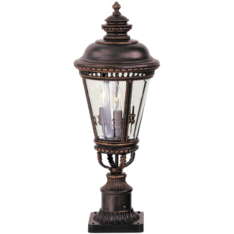 Castle Medium Post Lantern Grecian Bronze