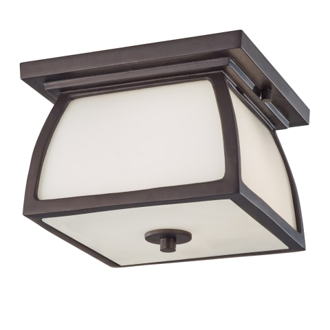 Wright House 1 - Light Outdoor Flushmount Oil Rubbed Bronze