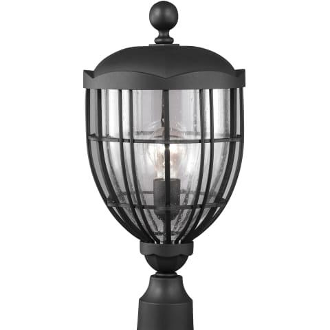 River North 1 - Light Outdoor Lantern Textured Black