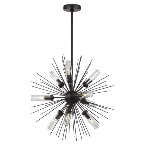 Hilo 9 - Light Outdoor Chandelier Oil Rubbed Bronze