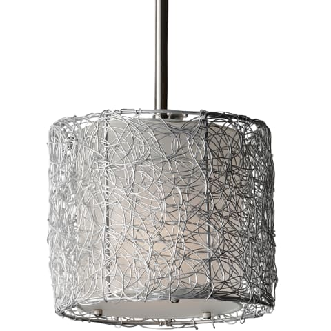 Wired 1-Light Mini Pendant Brushed Steel