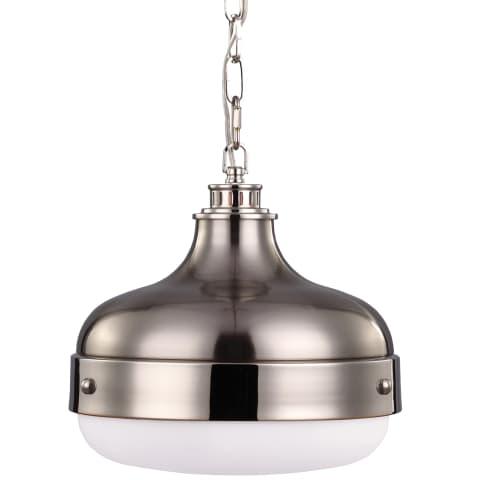 Cadence 2 - Light Pendant Polished Nickel / Brushed Steel