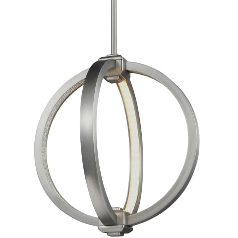 "Khloe 12"" LED Globe Pendant Satin Nickel"