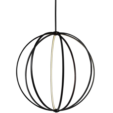 "Khloe 48"" LED Globe Pendant Oil Rubbed Bronze Bulbs Inc"