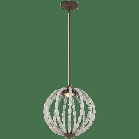 Orren 1 - Light Pendant Driftwood Grey / Weathered Iron