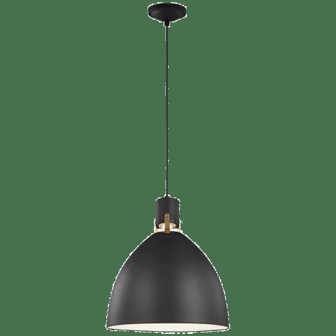 Brynne Medium LED Pendant Matte Black Bulbs Inc