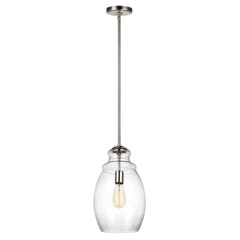 Marino One Light Pendant Satin Nickel