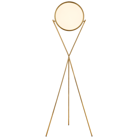 """Dot Stance 13"""" Rotating Floor Lamp in Natural Brass"""
