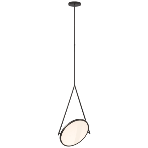 "Dot Stance 16"" Rotating Pendant in Matte Black"