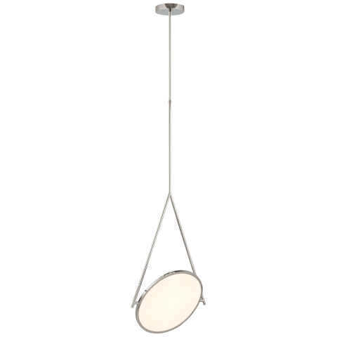 "Dot Stance 16"" Rotating Pendant in Polished Nickel"