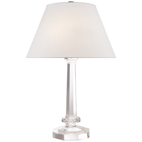 Marissa Table Lamp in Clear Crystal with Silk Shade