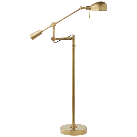 RL '67 Boom Arm Floor Lamp in Natural Brass