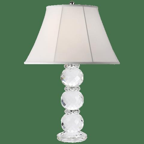 Daniela Table Lamp in Crystal with Silk Shade