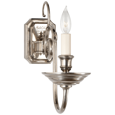 Lillianne Single Sconce in Butler's Silver