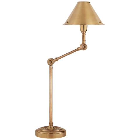 Anette Table Lamp in Natural Brass