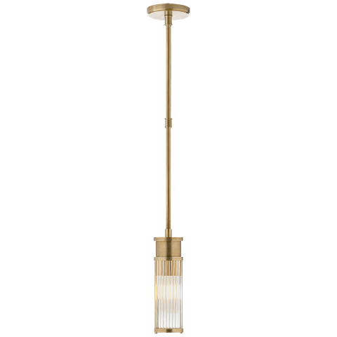 Allen Mini Pendant in Natural Brass and Glass Rods