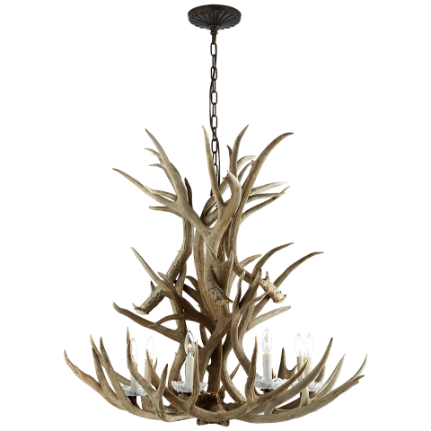 Straton Single Tier Chandelier in Natural Bone