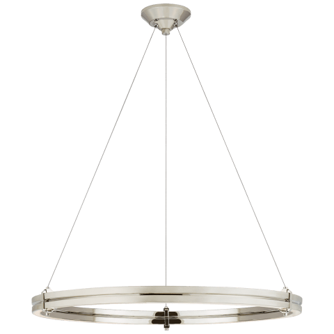 """Paxton 32"""" Ring Chandelier in Polished Nickel"""
