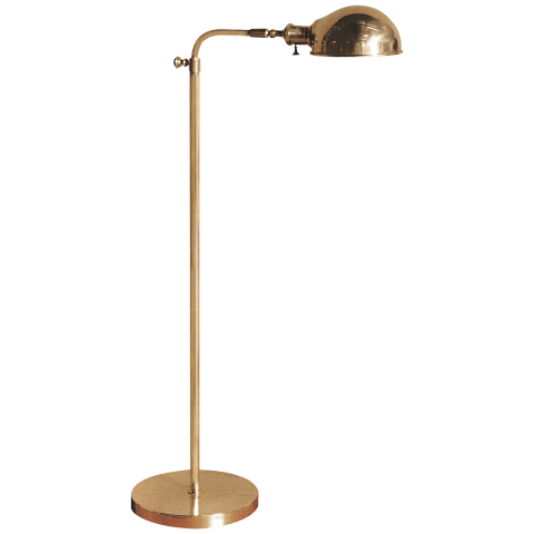 Old Pharmacy Floor Lamp in Hand-Rubbed Antique Brass