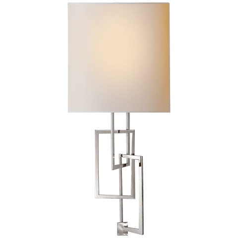 Cooper Sconce in Polished Nickel with Natural Paper Shade