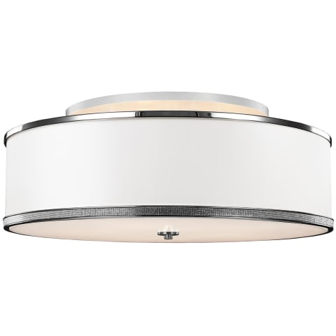 Pave Large Semi-Flush Mount Polished Nickel