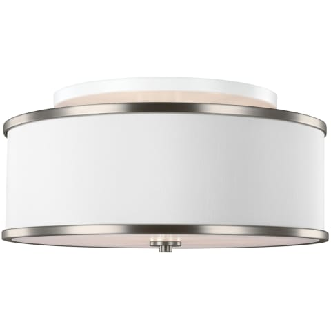 Lennon 3 - Light Semi-Flush Mount Satin Nickel