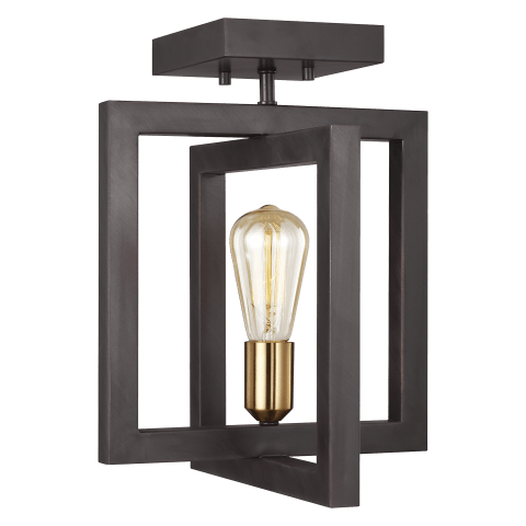 Finnegan Semi-Flush Mount New World Bronze