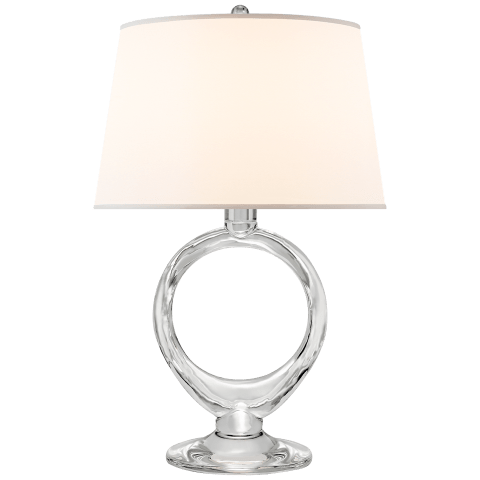 Olivia Table Lamp in Crystal with Silk Shade