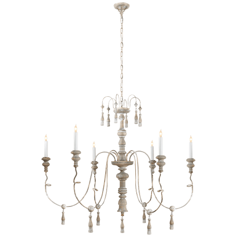 Michele Medium Chandelier in Belgian White