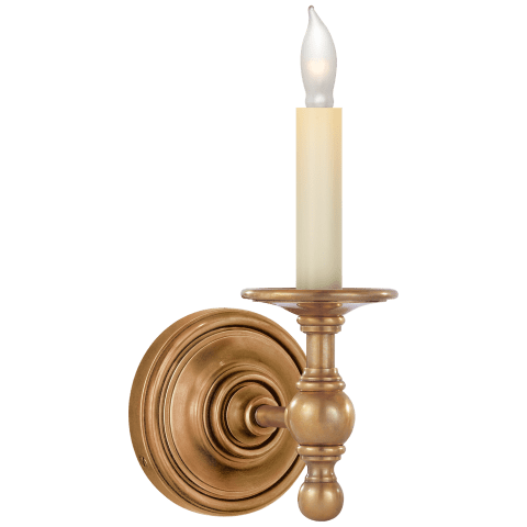 Classic Single Sconce in Polished Nickel