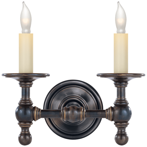 Classic Double Sconce in Bronze