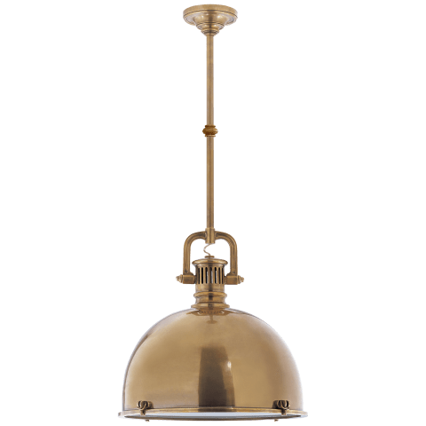 Yoke Large Pendant in Hand-Rubbed Antique Brass