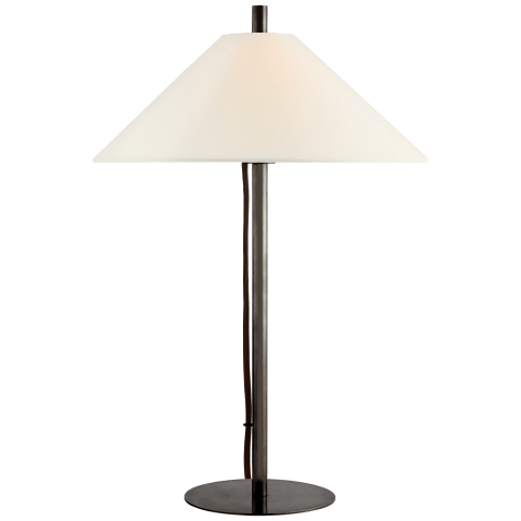 Dax Medium Table Lamp in Bronze with Linen Shade