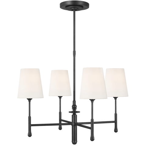 Capri 4 - Light Chandelier Aged Iron