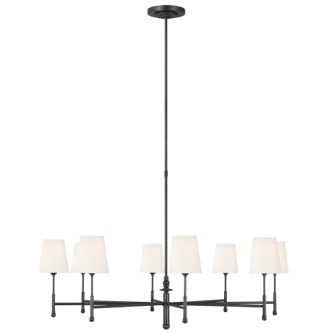 Capri 8 - Light Chandelier Aged Iron