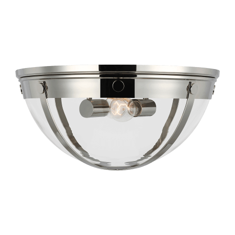 Logan 2 - Light Flush Mount Polished Nickel