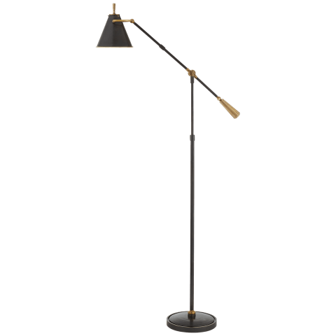 Goodman Floor Lamp in Bronze and Brass