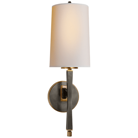 Edie Sconce in Bronze with Brass with Natural Paper Shade
