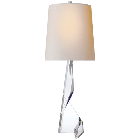 Tina Table Lamp in Crystal with Natural Paper Shade